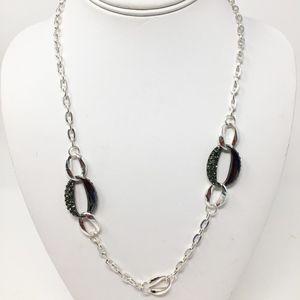 Alfani Silver-Tone Oval Ring Necklace NEW